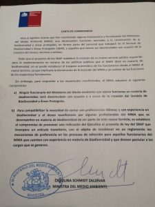 Carta Compromiso Ministra